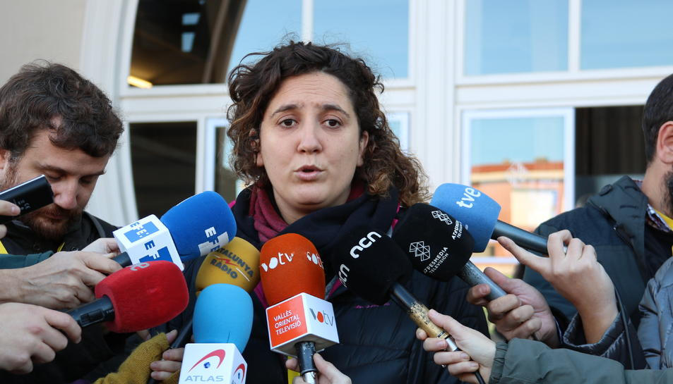 La portaveu del Secretariat Nacional de la CUP, Núria Gibert.