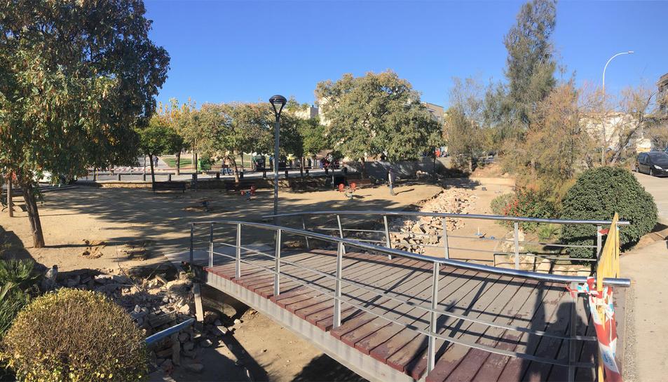 Han començat els treballs per millorar aquest espai públic, un dels parcs més concorreguts.