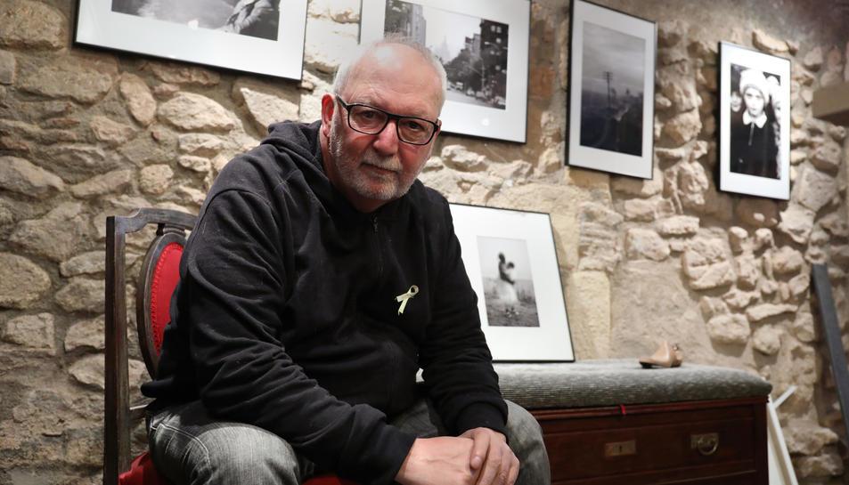 Pep Escoda al seu estudi de Tarragona, al carrer Comte.