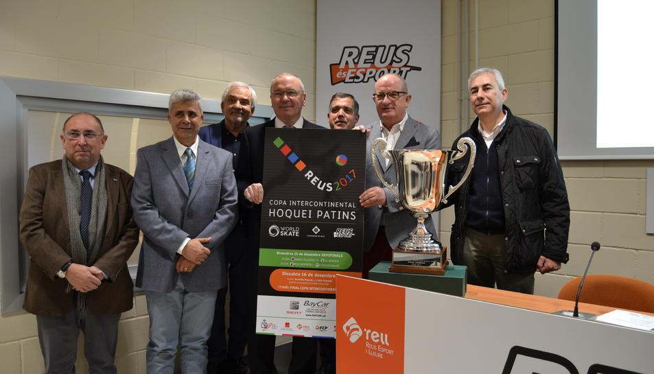 Imatge de la presentació de la fase final de la Copa Intercontinental d'hoquei patins Reus 2017.