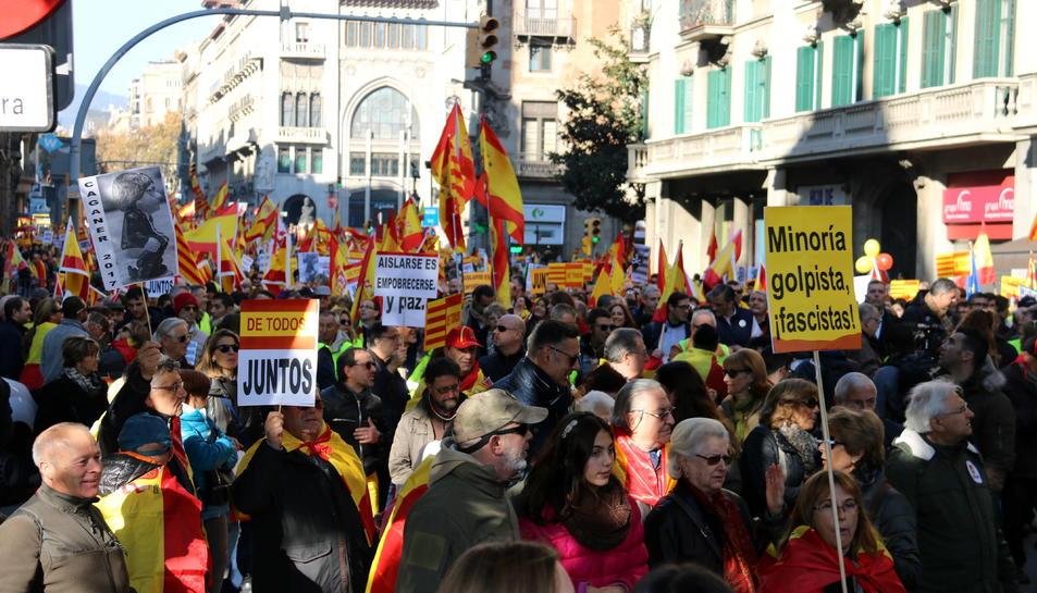 La concentración en Barcelona