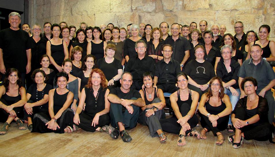 Un dels assajos del Cor Ciutat de Tarragona a l'Antiga Audiència de Tarragona.