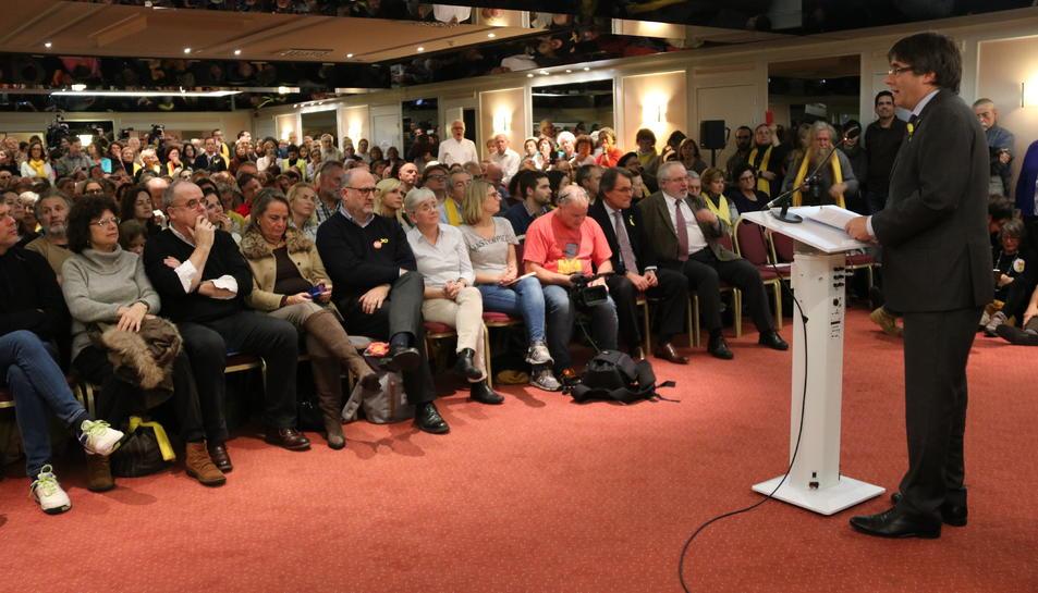Lacte de Junts per Catalunya a Brussel·les.