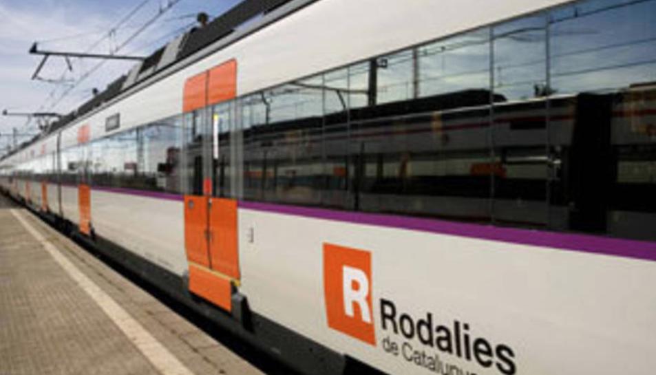 Imatge d'arxiu d'un tren Rodalies.