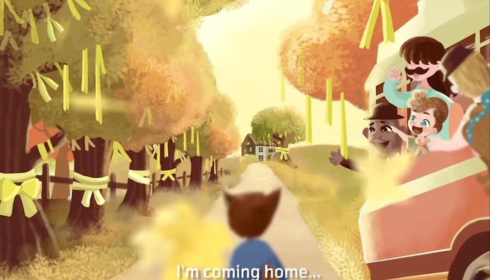 Una imatge del vídeo clip de la cançó.