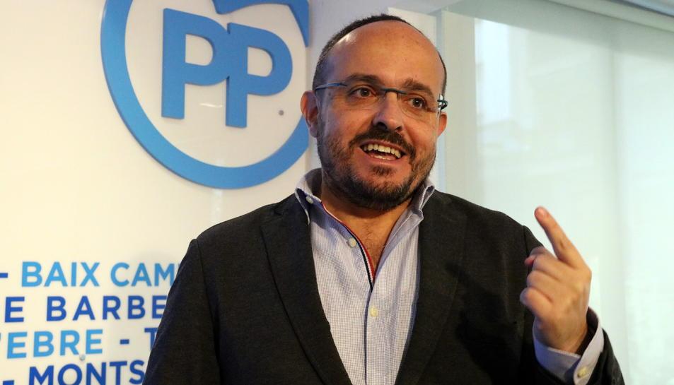 Imatge d'arxiu del portaveu parlamentari del PPC i diputat per Tarragona, Alejandro Fernández.