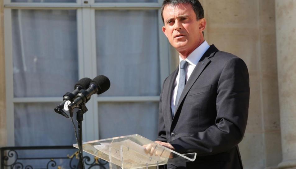 Imatge d'arxiu de Manuel Valls quan era primer ministre de França.