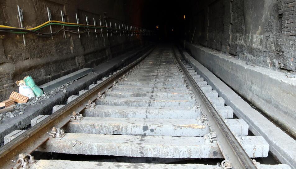 Les obres més importants de l'R15 es feien al túnel de l'Argentera.