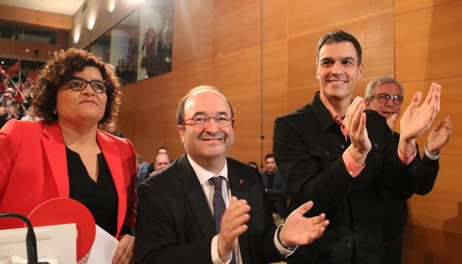 Sánchez i Iceta han acompanyat la candidata per Tarragona del PSC,