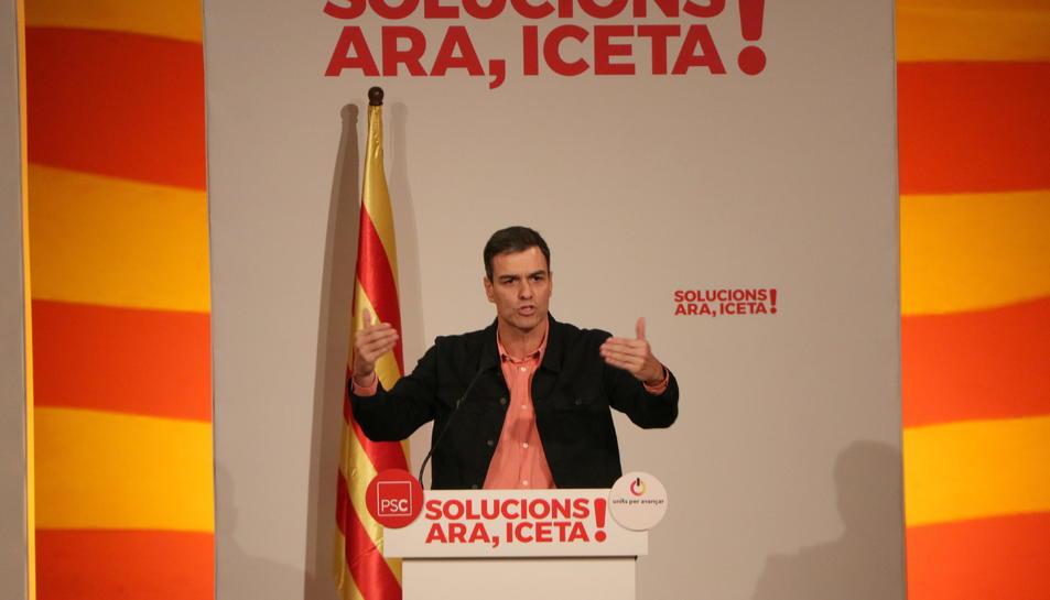 Pedro Sánchez ha participat en l'acte del PSC a Tarragona.