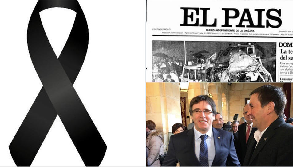 El 'collage' de Rivera per commemorar la mort de sis policies fa 27 anys.