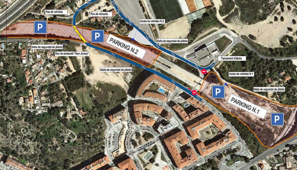 El mapa de com està la situació de les obres.