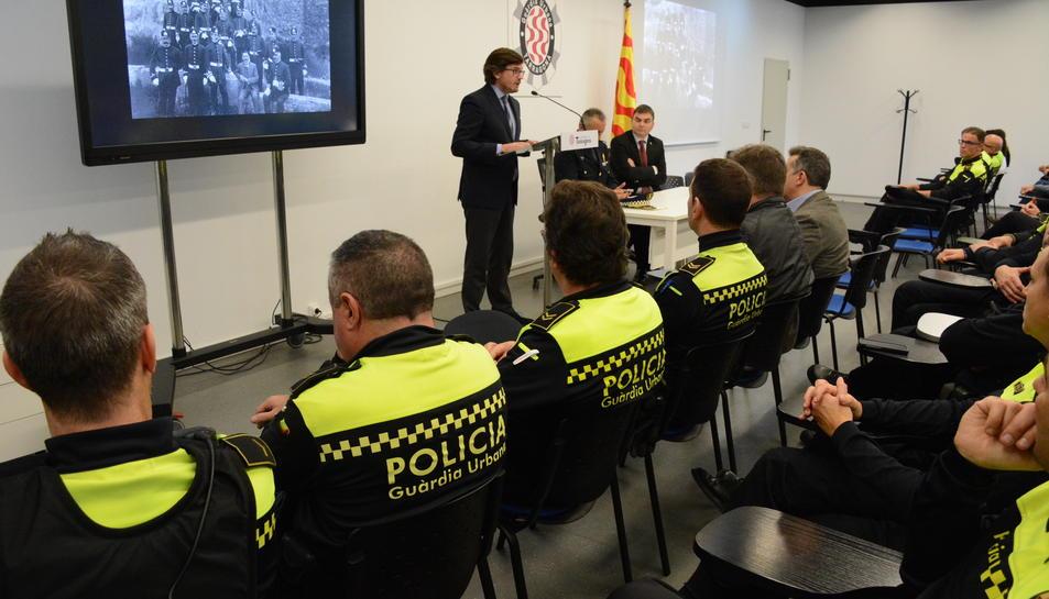 Imatge de l'acte del 160 anivesrsari de la Guàrdia Urbana de Tarragona.