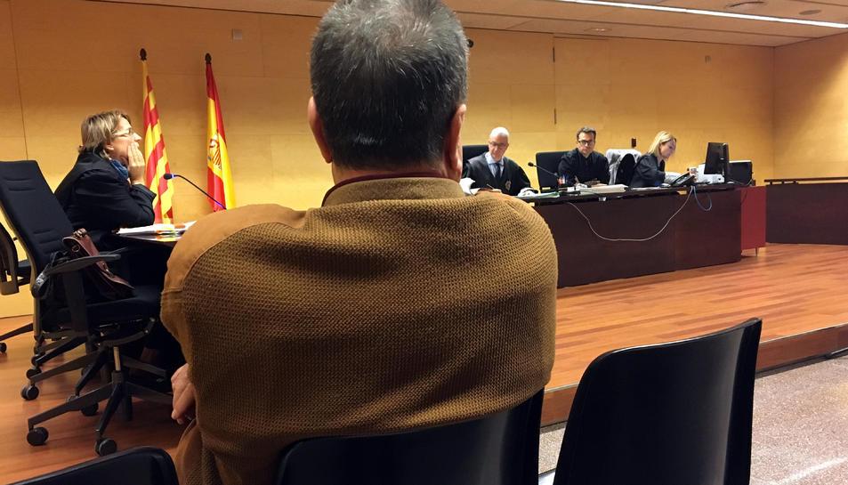 Imatge de l'exboxejador durant el judici a l'Audiència de Girona.