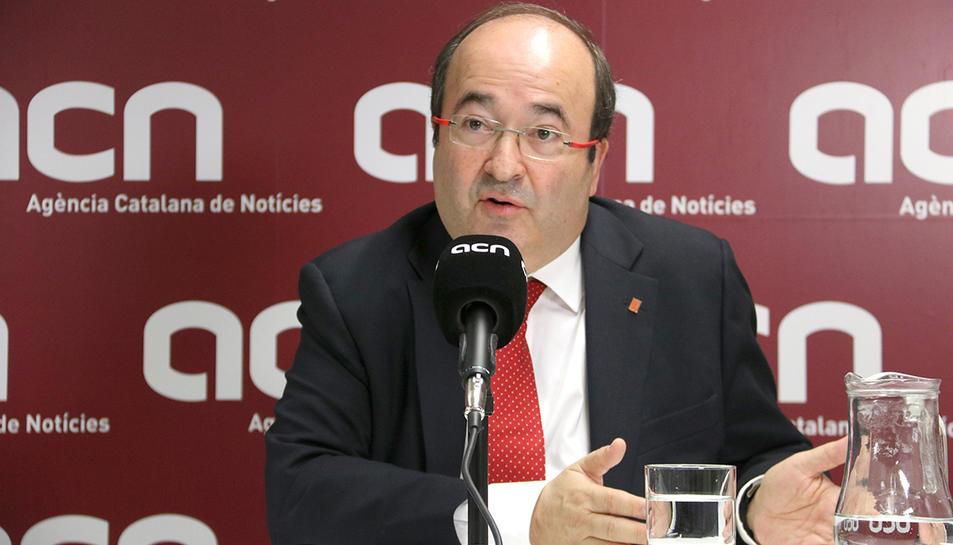 El candidat del PSC el 21-D, Miquel Iceta.