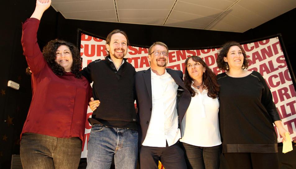 El secretari general de Podem, Pablo Iglesias, en un acte a Tarragona.