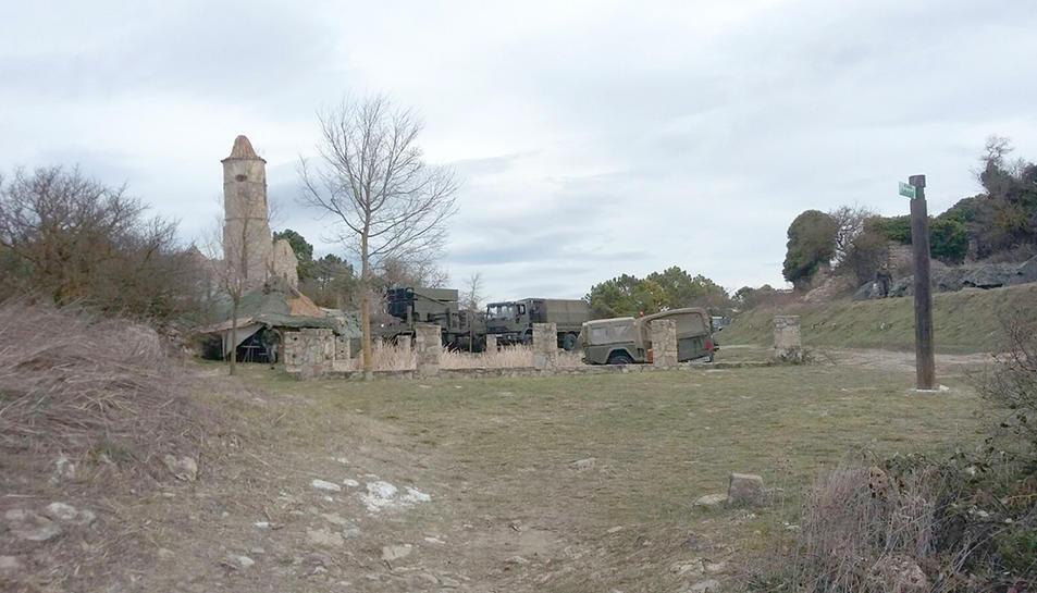Imatge del desplegament de l'exèrcit a la Mussara.