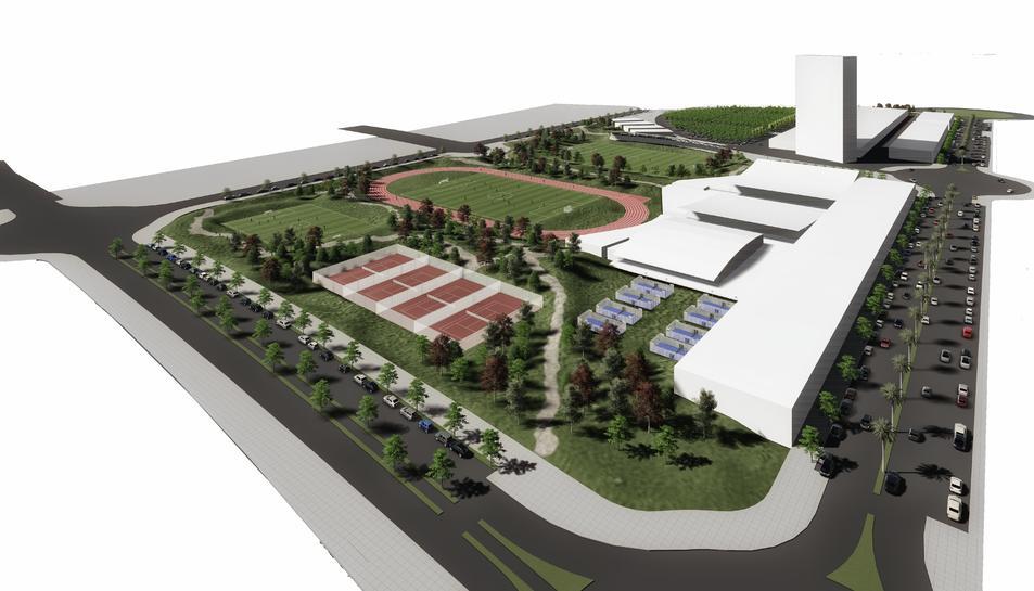 Imatge virtual del desenvolupament previst a la zona.