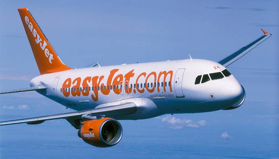 Un avió d'Easyjet, en una imatge d'arxiu cedida per la companyia