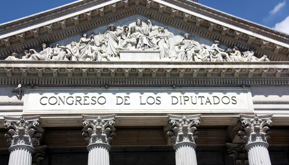 Façana principal del Congrés dels Diputats.