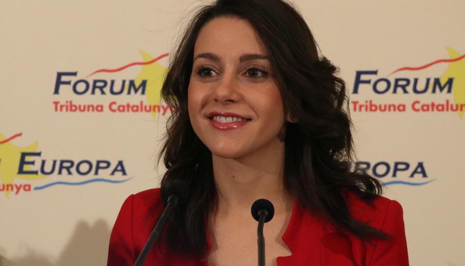Inés Arrimadas, en primer pla.