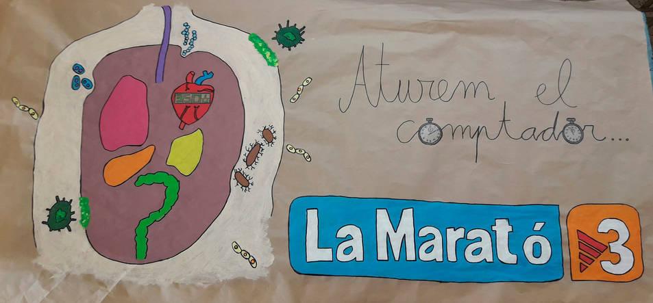 Imatge del mural realitzat per alumnes del CPEE Sant Rafael.