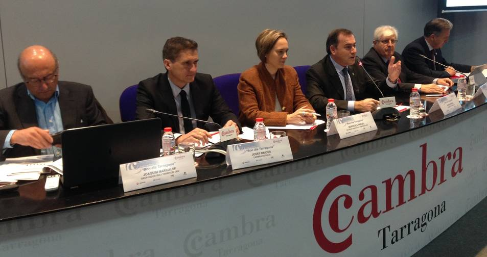 Instant de la presentació dels resultats de la Cambra de Tarragona, celebrada a la seu de l'entitat.