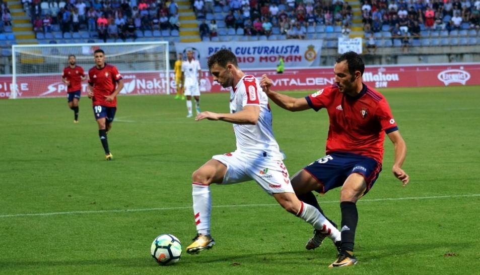 Rodri, jugador de la Cultural, durant un partit d'aquesta temporada.