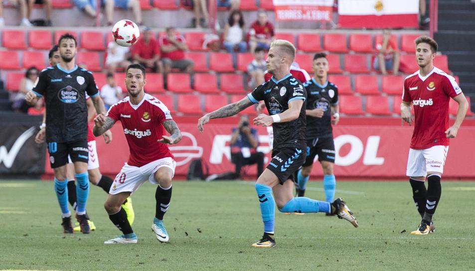 Tete Morente, durant el partit de Copa del Rei contra el Lugo.