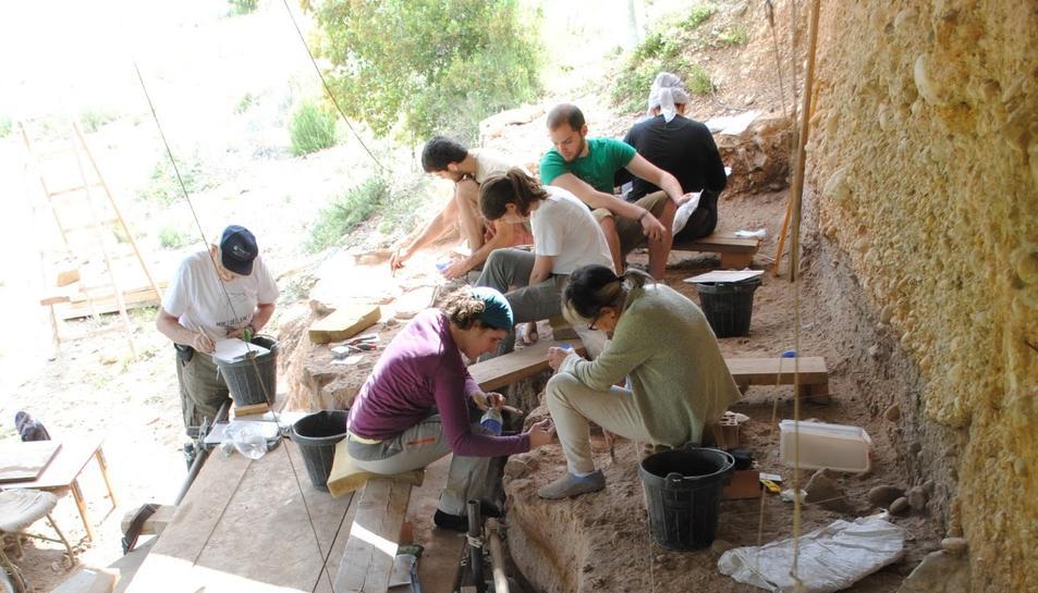 Imatge de l'excavació del Molí de Salt.