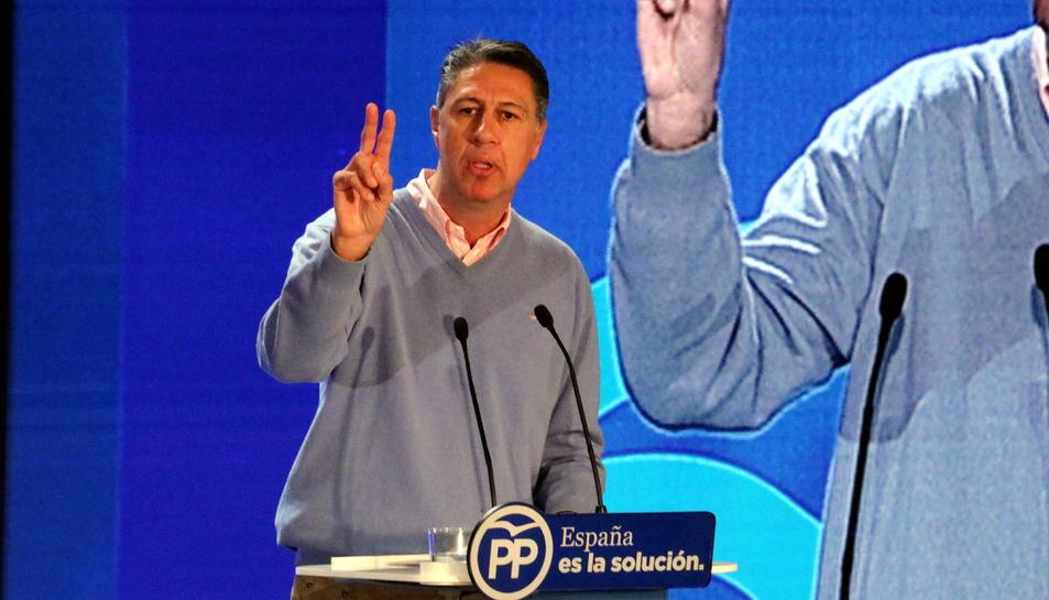 El candidat del PP a la presidència de la Generalitat, Xavier García Albiol, durant la seva intervenció a l'auditori de Salou, el 17 de desembre del 2017 (Horitzontal).