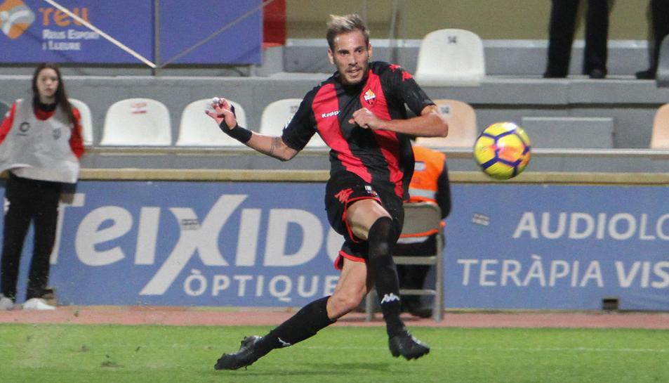 David Querol només porta un gol aquesta temporada, el que va aconseguir a l'Estadi davant el Valladolid.