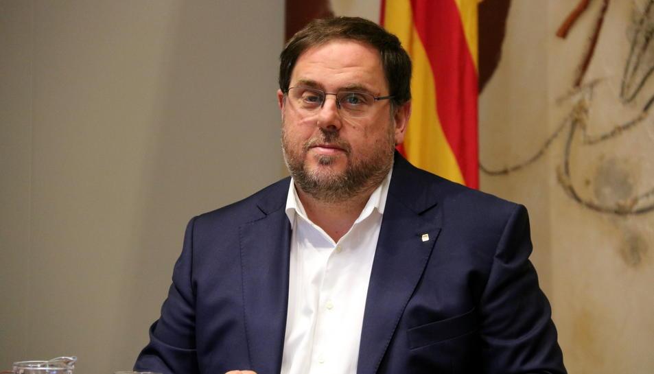 Imatge del vicepresident destituït, Oriol Junqueras.