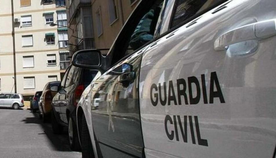 Imatge d'un vehicle de la Guàrdia Civil