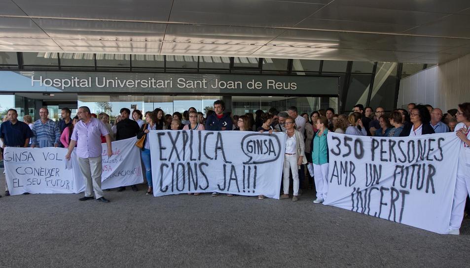 Una imatge d'arxiu d'una protesta dels empleats, que decidiran avui si tornen a mobilitzar-se.