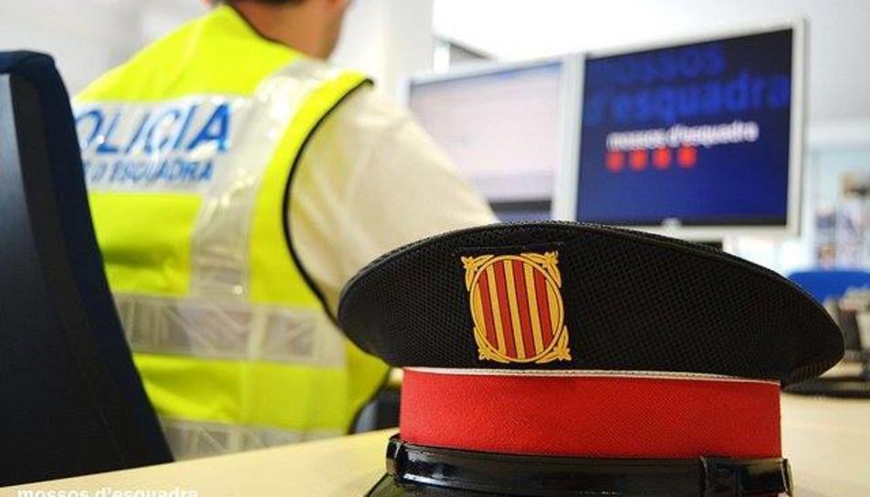 Imatge del gorro que forma part de l'uniforme del Mossos d'Esquadra.