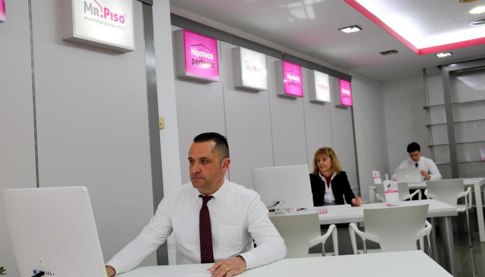 Oficina de Míster Piso a Tarragona, on s'ha fet la primera venda d'un pis pagat amb bitcoins.