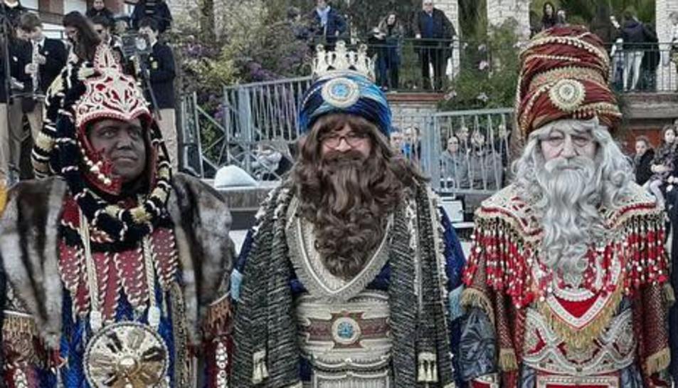 Una imatge dels reis de la cavalcada de Reus, enguany.