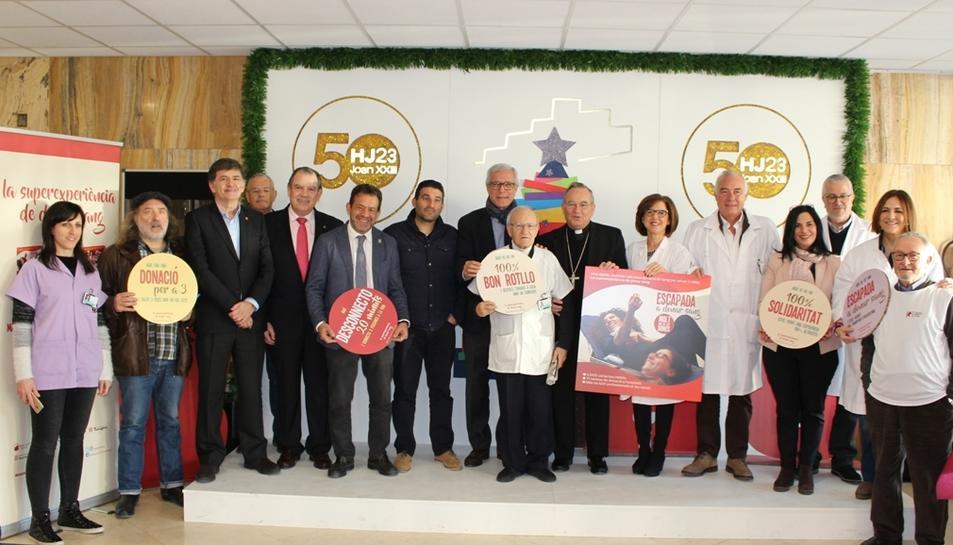 Ballesteros inaugura la Marató de Donants de Sang al Joan XXIII