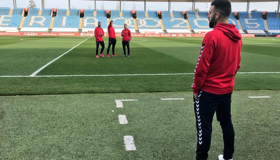 Javi Jiménez a l'Estadi de los Juegos Mediterráneos.