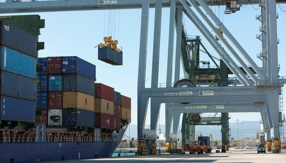 Imatge del Moll de càrrega del Port de Tarragona.