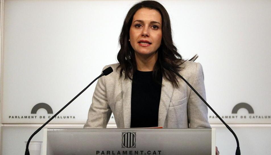 Imatge de la presidenta del grup parlamentari Cs, Inés Arrimadas.