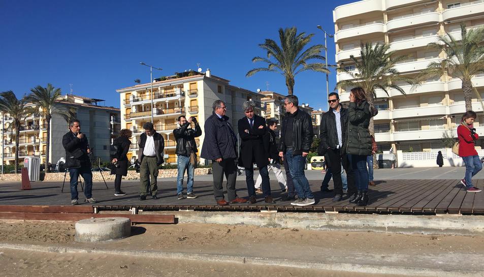 El subdelegat del Govern, Jordi Sierra, al centre, amb Ramon Ferré, a la dreta.