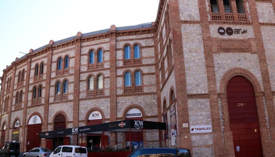 Pla general de la façana exterior de la Tàrraco Arena Plaça, ubicada al carrer de Mallorca de Tarragona. Imatge del 29 de gener del 2018