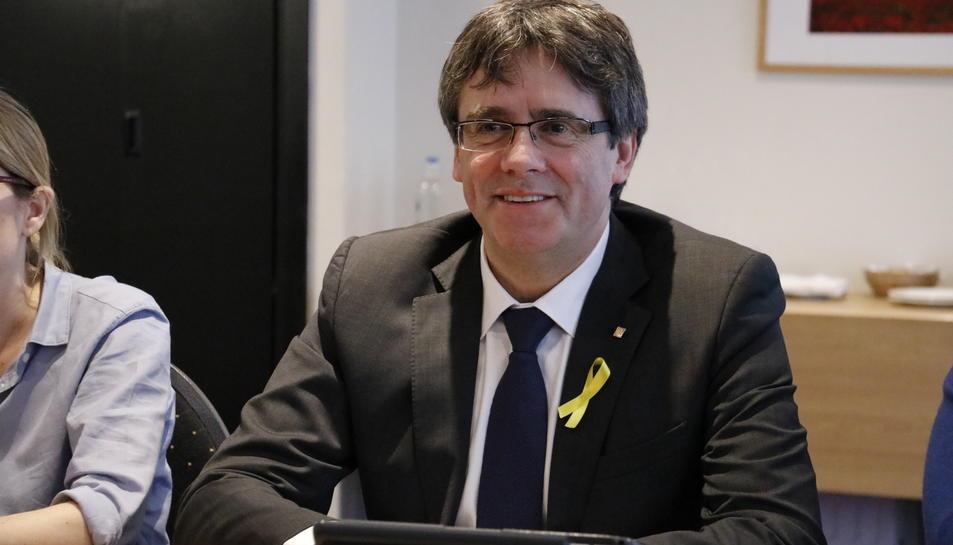 Imatge del cap de llista de JxCat, Carles Puigdemont.