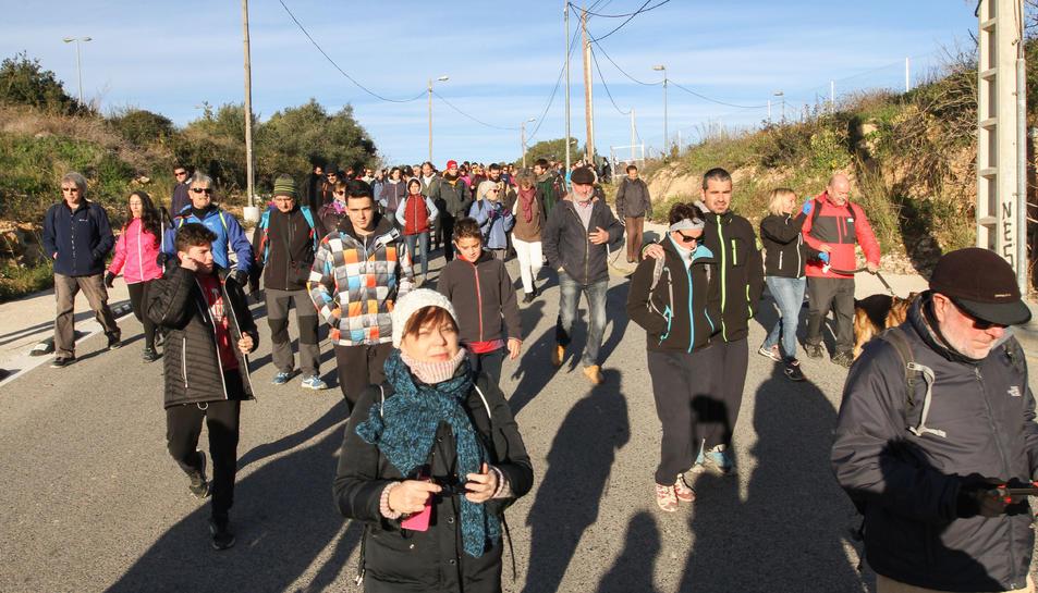 Alguns dels participants en la quarta Caminada de Llevant, celebrada el 15 de gener del 2017.
