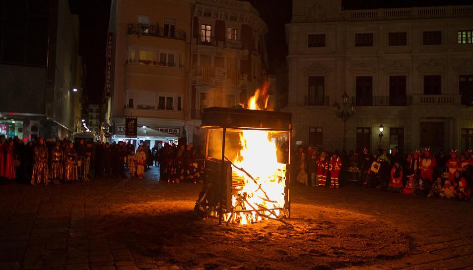 La incineració del cos de Carnestoltes.