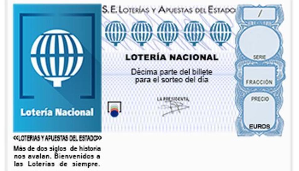 Un dècim de la Loteria Nacional.