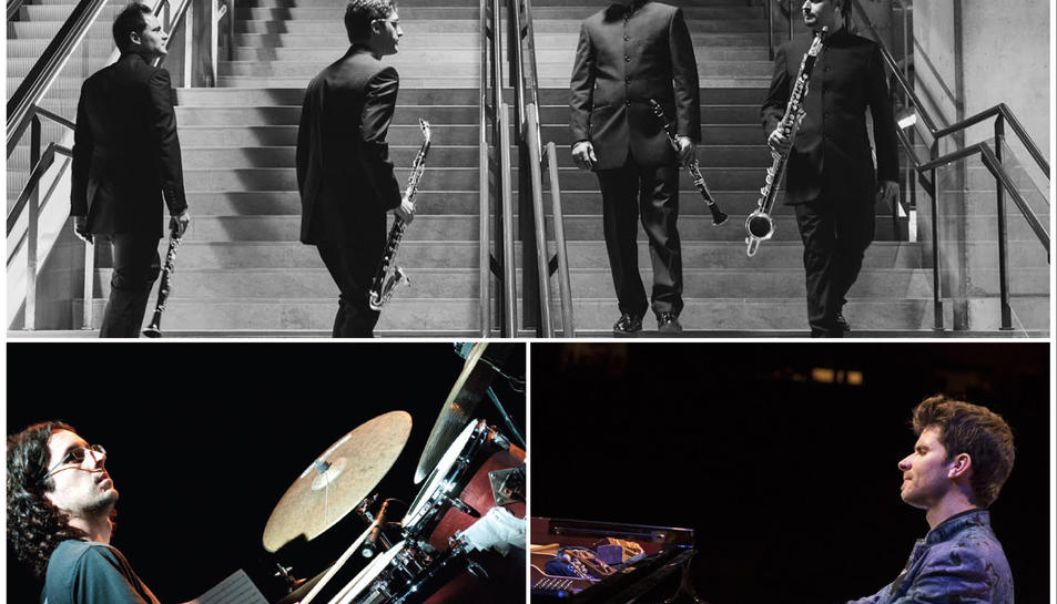 A 'Black Pool Suite' els Barcelona Clarinet Players presenten una obra de jove compositor Joan Vidal, acompanyat del mateix percussionista i del pianista Marc Mezquida.