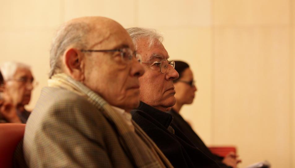 Millet i Montull, al banc dels acusats durant el primer dia de judici del cas Palau.